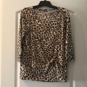 Signature Collection by Avon Leopard Print Top